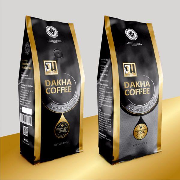 Cà phê Đắk Hà chế phin truyền thống 0,5 kg/gói