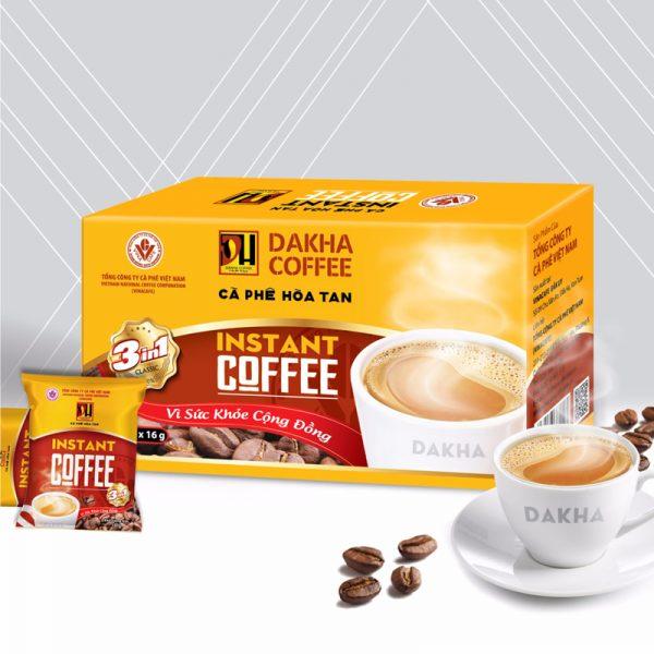 Cà phê Đắk Hà hòa tan 3in1
