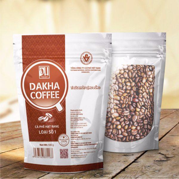Cà phê Đắk Hà hạt rang (0.5kg/túi)