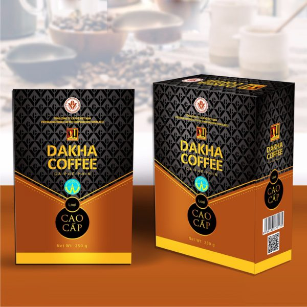 Cà phê Đắk Hà chế phin cao cấp (0,25 kg/hộp)