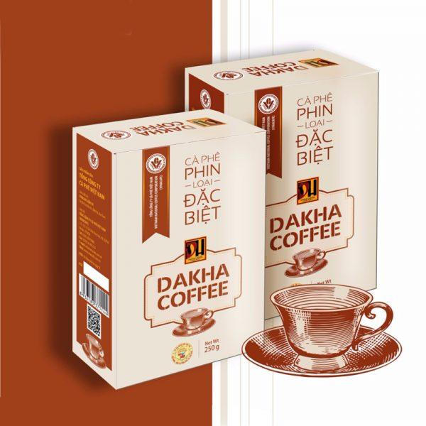 Cà phê Đắk Hà chế phin đặc biệt (0,25 kg/hộp)