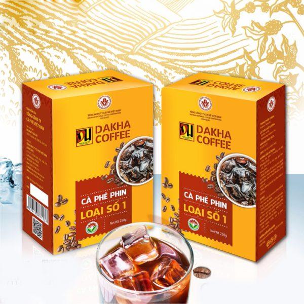 Cà phê Đắk Hà chế phin số 1 (0,25 kg/hộp)